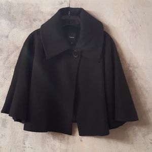 Express black cropped cape